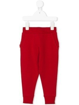 Monnalisa ruffle trim track pants - Red
