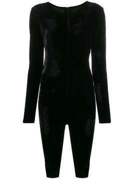 Alchemy fitted long sleeve playsuit - Black