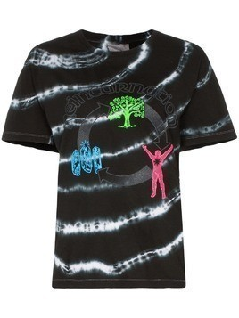 Ashley Williams graphic print tie-dye cotton T-shirt - Black