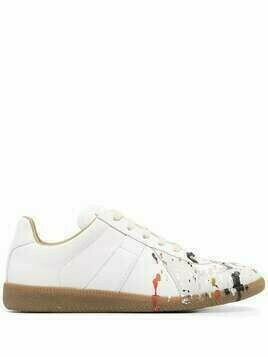 Maison Margiela paint-splattered Replica sneakers - White