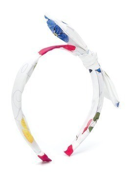 Lapin House bow detail head band - White