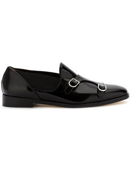 Edhen Milano monk loafers - Black