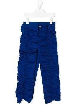 Caroline Bosmans pleat detail trousers - Blue