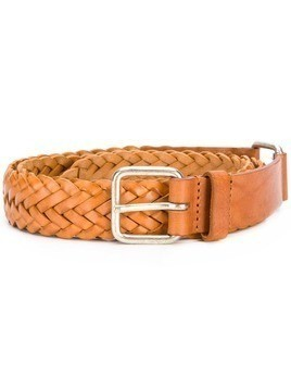 Jean Paul Knott intrecciato buckle belt - Brown