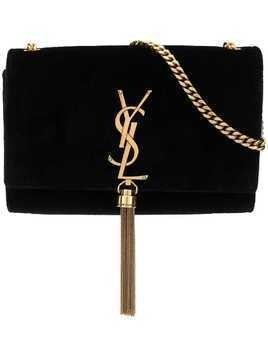 Saint Laurent small Kate Monogram velvet bag - Black