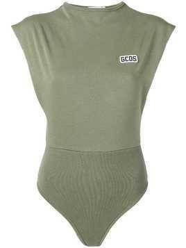 Gcds embroidered logo bodysuit - Green