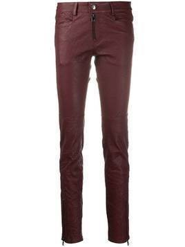 Zadig&Voltaire Phlamo Cuir Froissé skinny trousers - Red