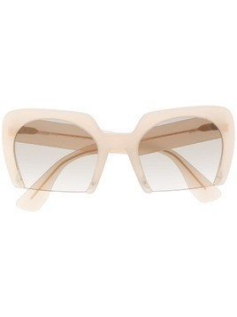 Miu Miu Eyewear oversized cat eye sunglasses - NEUTRALS