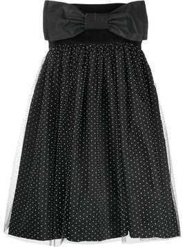 Brognano strapless flared dress - Black