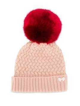 Hucklebones London chunky pompom hat - Pink