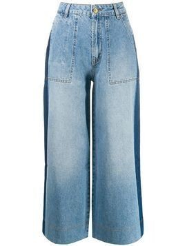 Essentiel Antwerp denim palazzo trousers - Blue