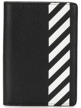 Off-White striped wallet - Black