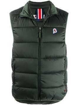 Invicta logo patch padded gilet - Green