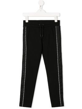 Dkny Kids mesh stripe track pants - Black