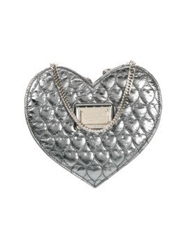 Philipp Plein heart quilted crossbody bag - Grey