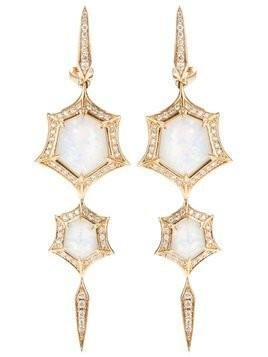 Stephen Webster 'Crystal Haze' quartz and diamond drop earrings - Metallic