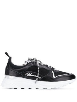 Blumarine lace-up logo sneakers - Black