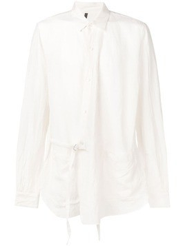 Attachment side belt shirt - White