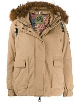 Alessandra Chamonix Wange hooded coat - Brown