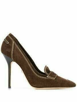 Dsquared2 contrast stitching loafer-style pumps - Brown