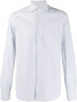 Barba pinstripe shirt - Blue