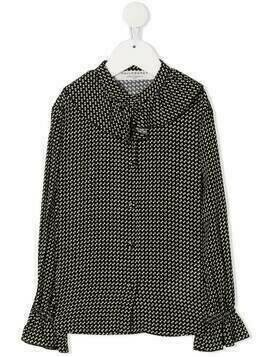 Philosophy Di Lorenzo Serafini Kids polka dot ruffle-trim blouse - Black