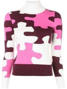 JoosTricot puzzle pattern knitted sweater - Pink