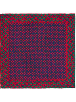 Gucci Geometric G print silk pocket square - Blue