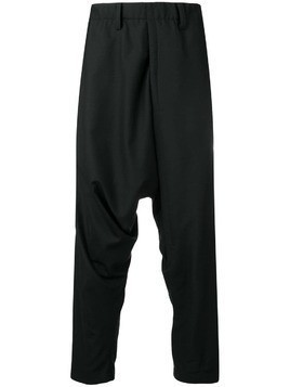 Issey Miyake Men drop crotch trousers - Black