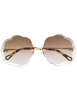 Chloé Eyewear scalloped sunglasses - Brown