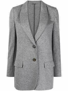 Brunello Cucinelli shawl-lapel single-breasted blazer - Grey