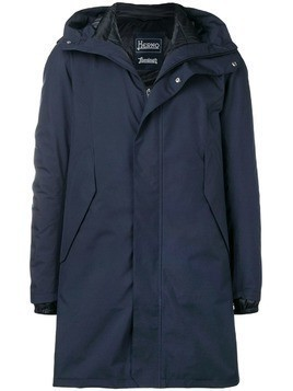Herno padded mid-length raincoat - Blue