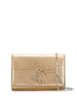 Jimmy Choo Varenne crocodile-effect clutch bag - GOLD