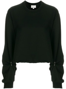 3.1 Phillip Lim ruched sleeve sweatshirt - Black