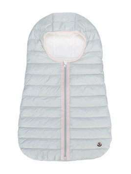 Moncler Kids padded baby nest - Grey