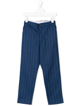 Anne Kurris pinstripe tapered trousers - Blue