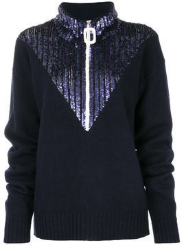 Aviù sequin embellished jumper - Blue