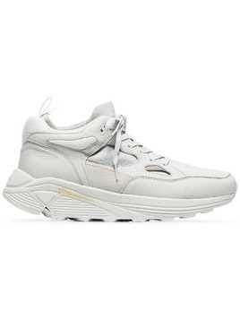 Brandblack sage aura leather sneakers - White