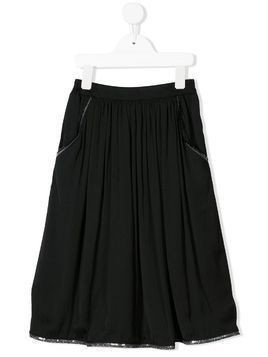 Caffe' D'orzo Ursula sequin-embroidered skirt - Black