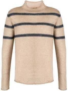 Federico Curradi striped textured sweater - NEUTRALS