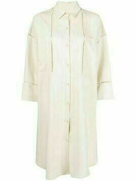 Aeron cut-our detailing shirtdress - Neutrals