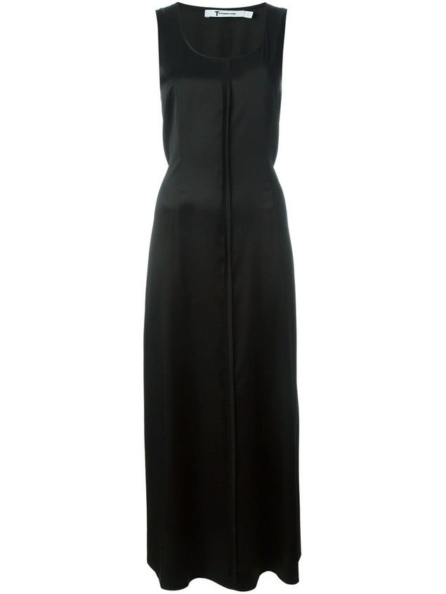 T By Alexander Wang exposed seam maxi dress - Black