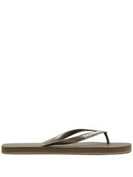 Dsquared2 logo-print flips flops - Brown