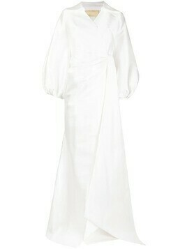 Parlor Letizia wrap bridal gown - White