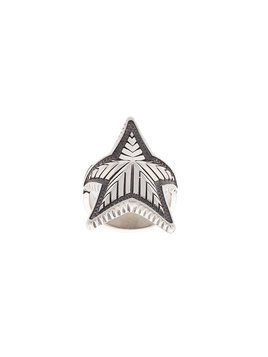 Cody Sanderson curved star ring - Metallic