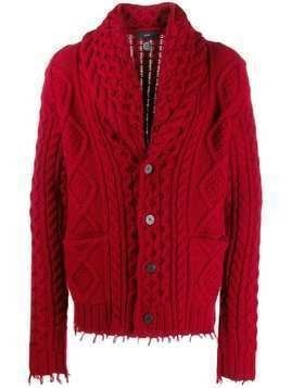 Alanui button-down cardigan - Red