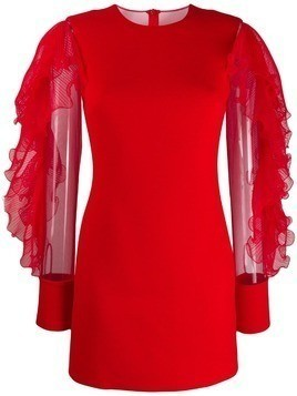 David Koma long-sleeve mini dress - Red