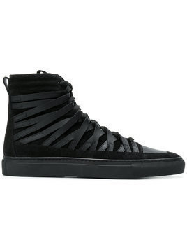 Damir Doma Damir Doma x Officine Creative strappy hi-top sneakers - Black
