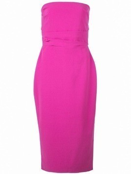 Alex Perry fitted Dylan midi dress - Pink