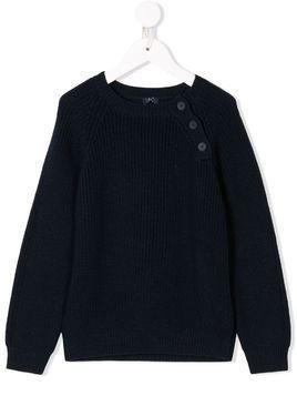Il Gufo ribbed sweater - Blue